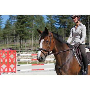 Filet + rênes équitation cheval et poney TINCKLE marron - 438958