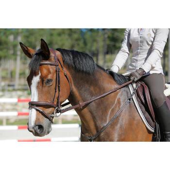 Filet + rênes équitation cheval et poney TINCKLE marron - 438959
