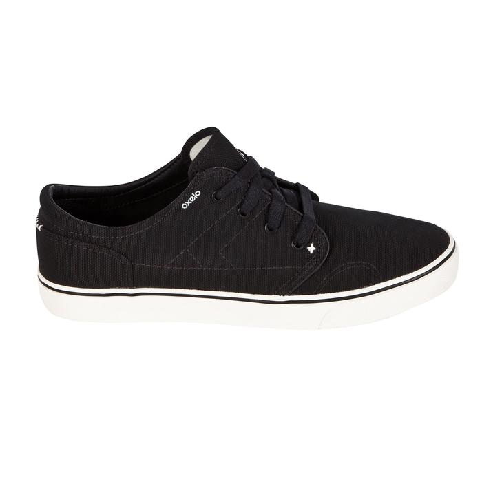 Chaussures basses skateboard - longboard VULCA 100 CANVAS noires
