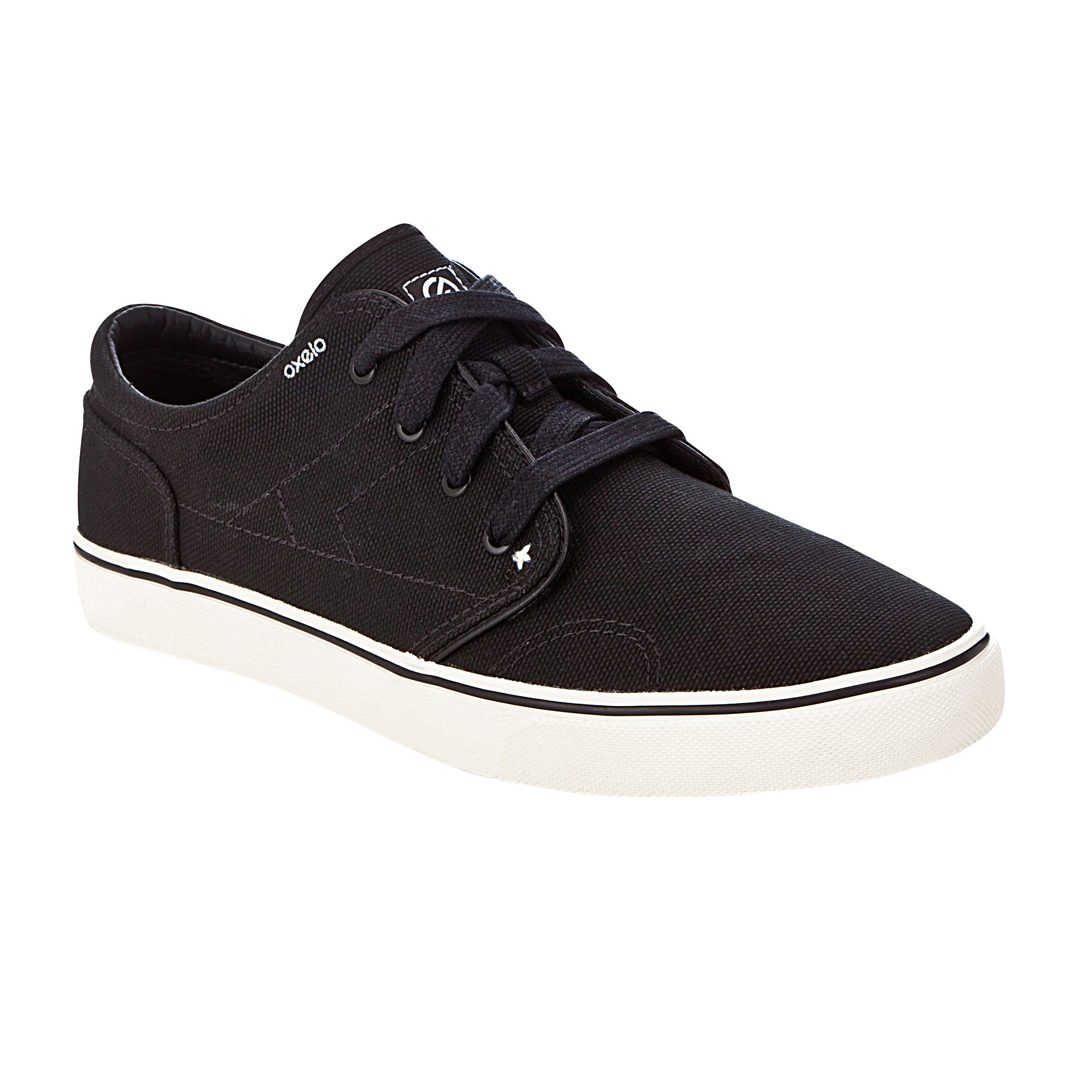 Sepatu Rendah Longboard Skateboard Vulca Canvas L Dewasa - Hitam