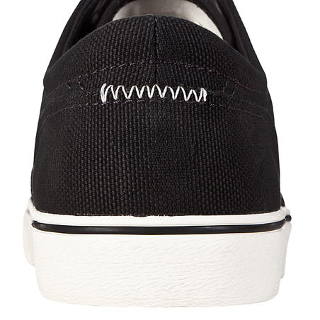 Vulca 100 Canvas Skateboarding Longboarding Low-Top Shoes - Black