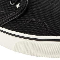 Chaussures basses planche à roulettes - planche longue VULCA 100 CANVAS noires