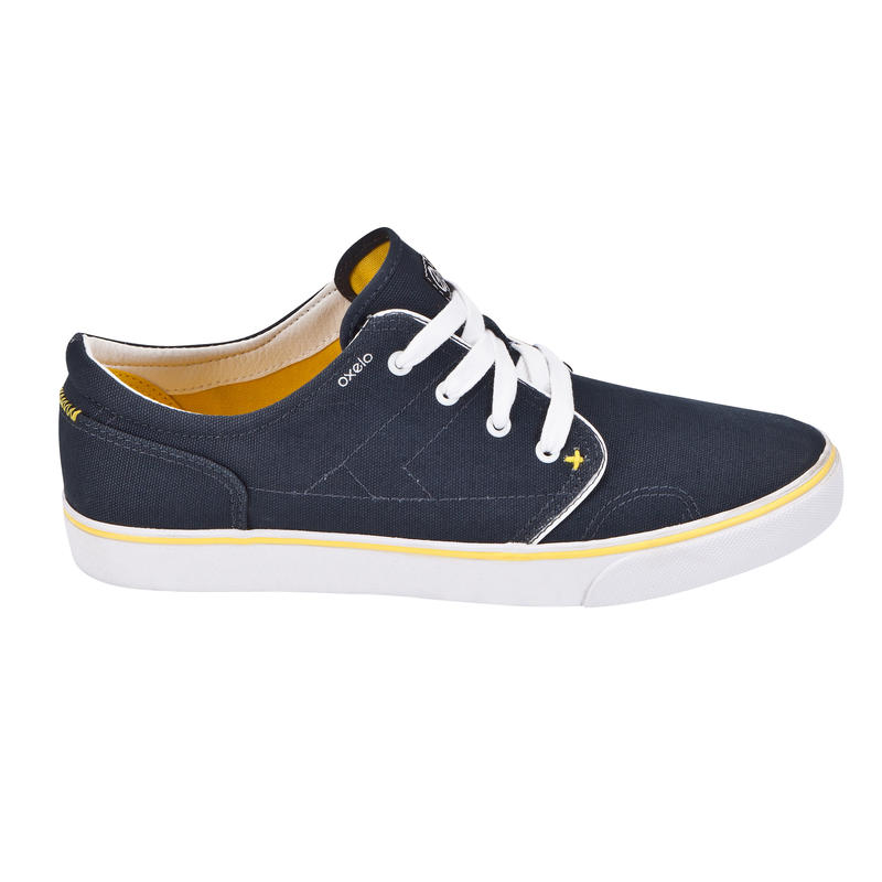 Chaussures basses skateboard-longboard adulte VULCA CANVAS L pétrole jaunes