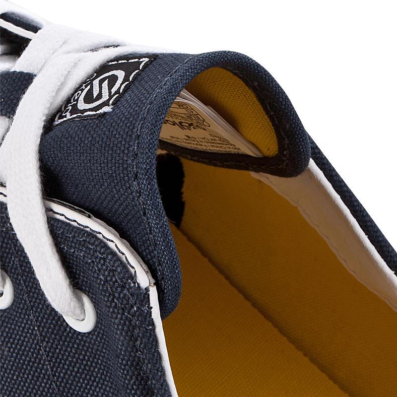 Chaussures basses skateboard-longboard adulte VULCA CANVAS L pétrole jaunes