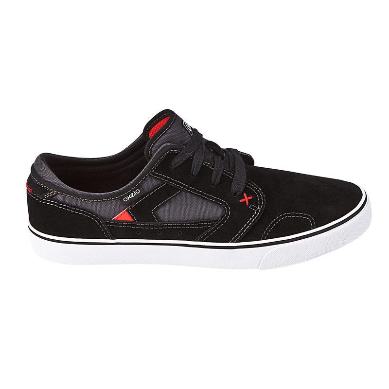 Chaussures basses de skateboard adultes VULCA LOW CLASSIC noires