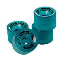 Longboard or Cruiser Wheels 4-Pack 70 mm 78A - Dark Green