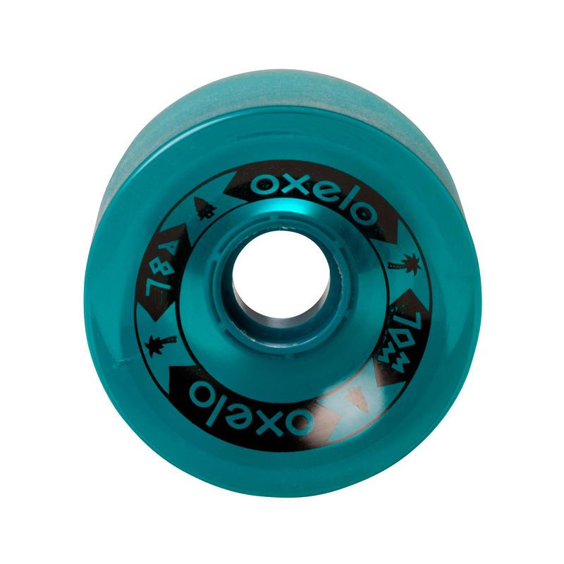 70 mm 78A Longboard or Cruiser Wheels 4-Pack - Dark Green