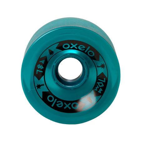 Колеса для лонгборда або круїзера, 70 мм, 78A, 4 шт. - Темно-зелені