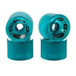 70mm 78A長板或交通板滑板輪4入組 - 深綠色