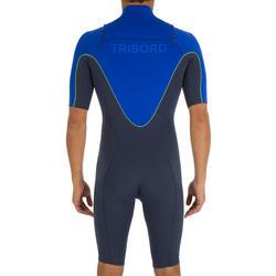 Heren shorty 900 met rits op de borst, neopreen 2 mm blauw - 439464