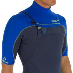 Heren shorty 900 met rits op de borst, neopreen 2 mm blauw - 439465