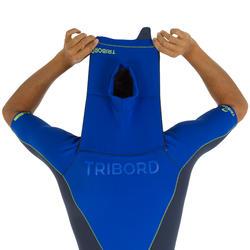 Heren shorty 900 met rits op de borst, neopreen 2 mm blauw - 439469