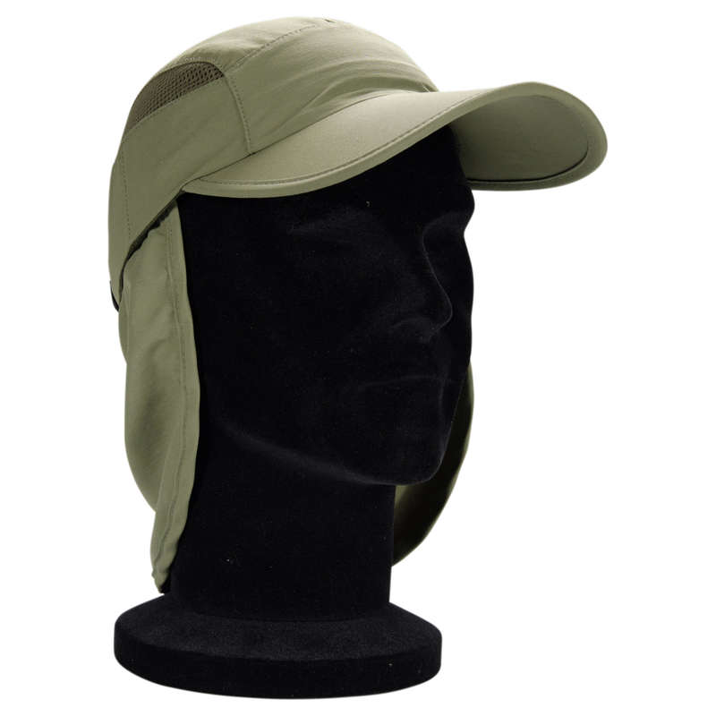 GLASSES AND CAPS Fishing - Folding cap 500 khaki CAPERLAN - Fishing