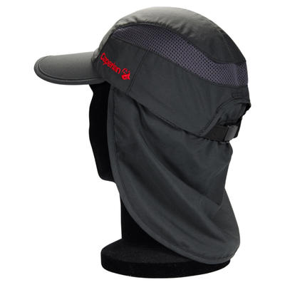 Folding fishing cap 500 grey