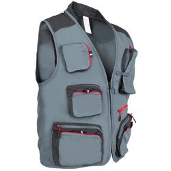 Fishing vest 500 castor grey
