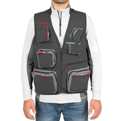 CAPERLAN Fishing gilet 500 - grey