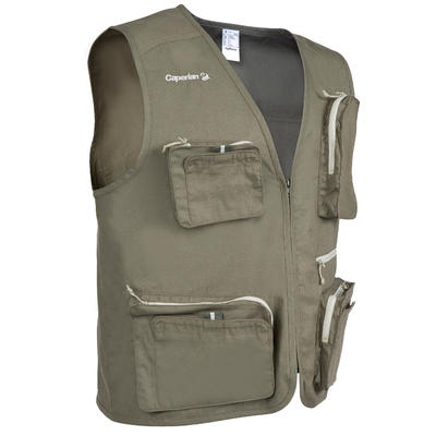 CAPERLAN 100 Fishing Gilet - Khaki