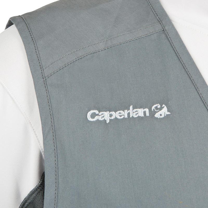 Gilet pêche 100 gris CAPERLAN