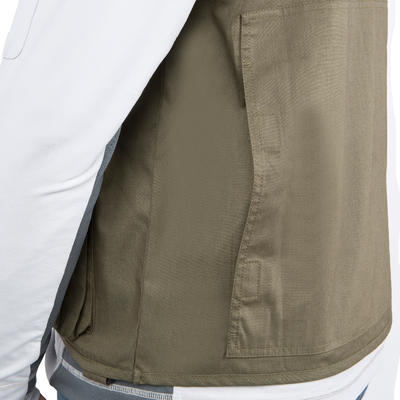 Fishing gilet 100 Khaki