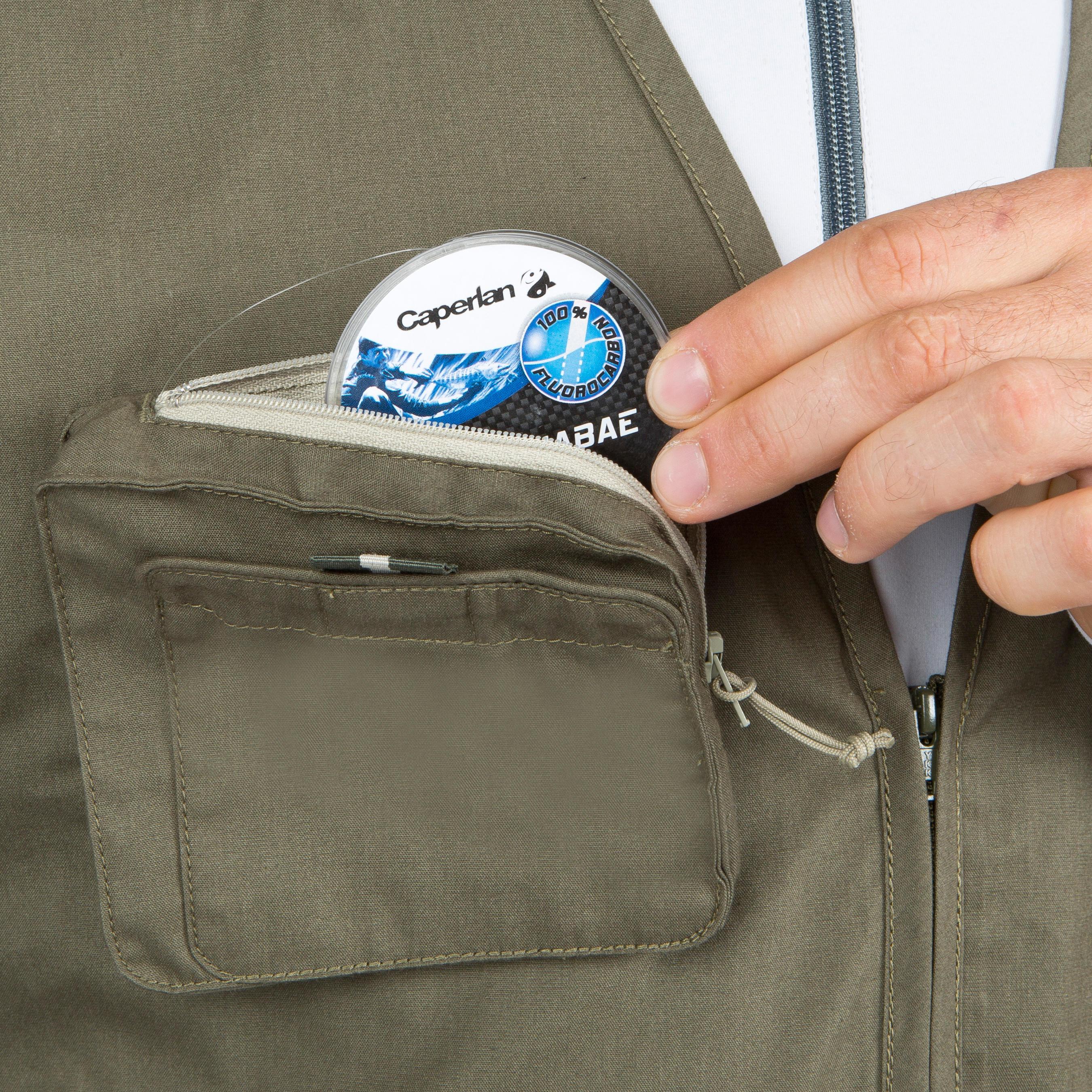 CAPERLAN 100 Fishing Gilet - Khaki