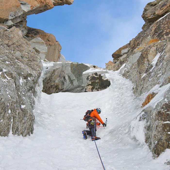 Hardshellhose Alpinism Herren Bergsteigen grau