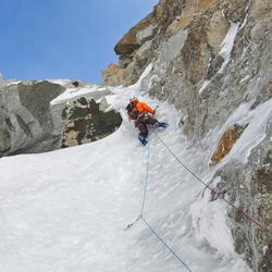 CUERDA en doble de escalada y alpinismo RAPPEL de 7,5 mm x 60 m rojo