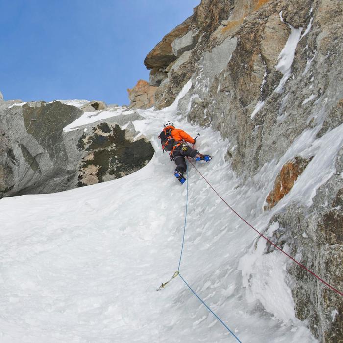 Dubbeltouw voor klimmen en alpinisme Rappel 7,5 mm x 60 m rood