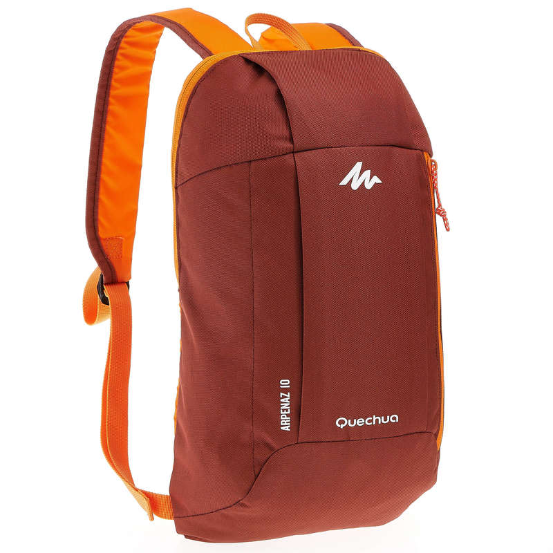 10L TO 30L NATURE HIKING BACKPACKS - Arpenaz 10 Hiking Backpack - Burgundy/Orange QUECHUA