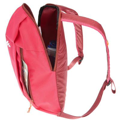 Morral de excursionismo de un día Arpenaz 10L rosado
