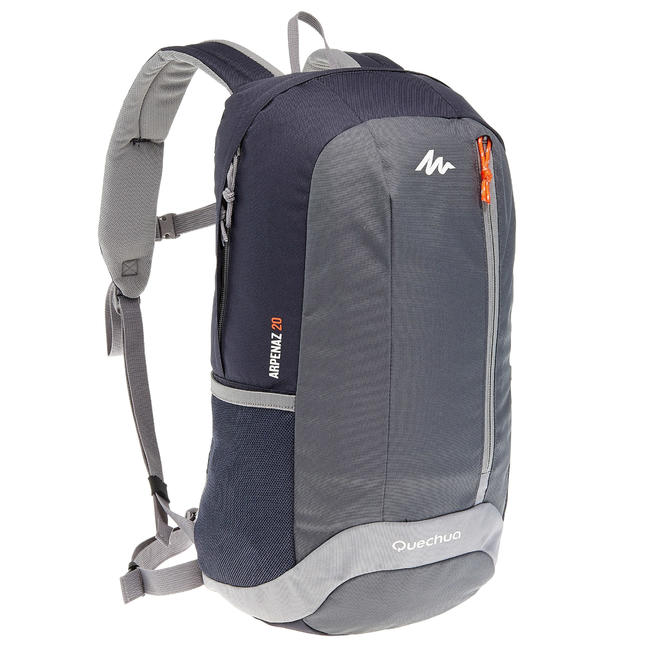 HIKING BAG 20 Litre NH100 - BLACK/GREY