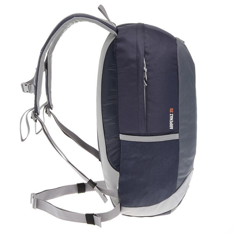 HIKING BAG 20 Litre NH100 - BLACK/GREY