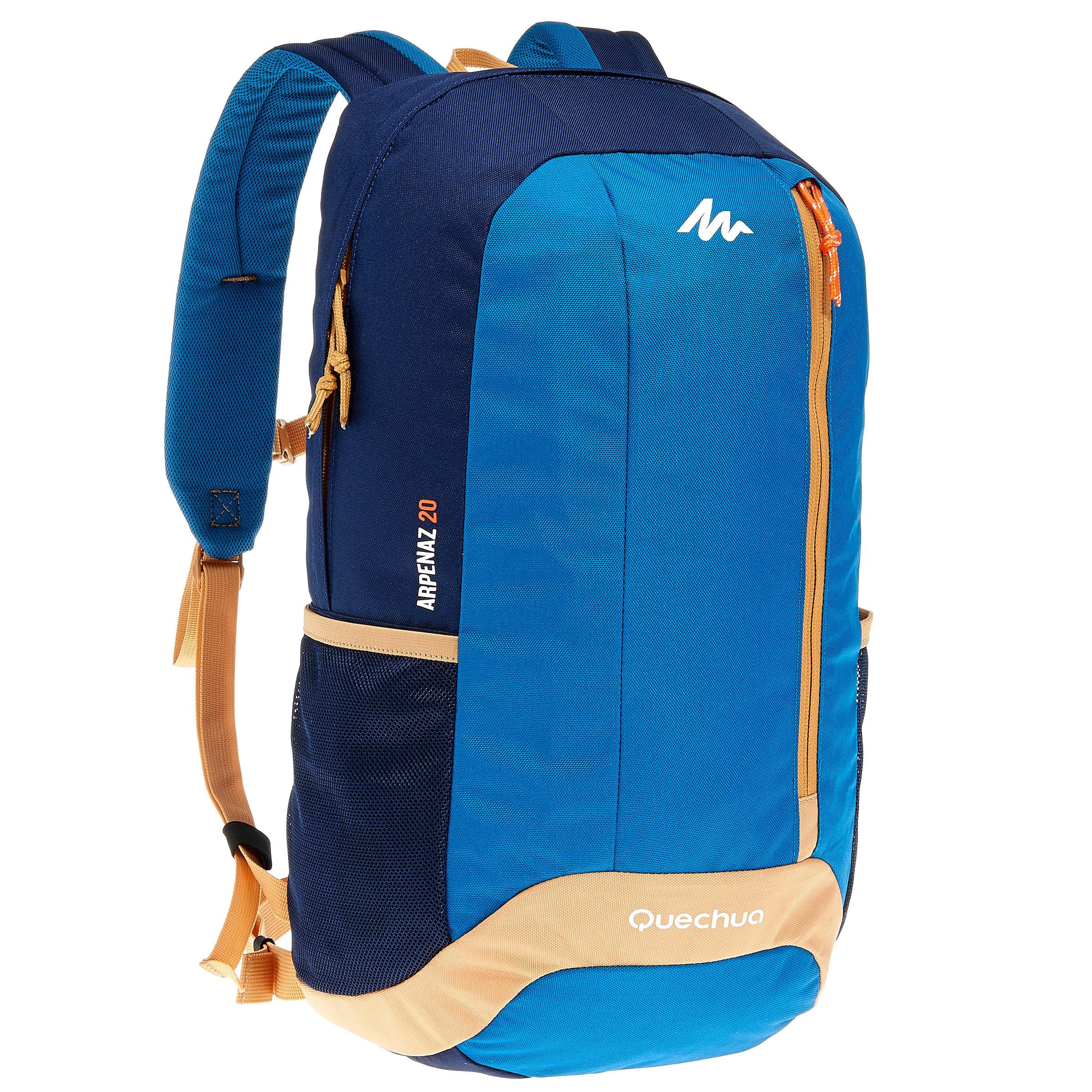 Mochila de campamento Arpenaz 20 l. azul: ideal para campamento de un día.