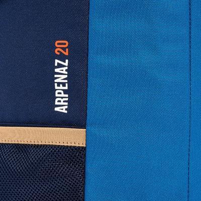 حقيبة ظهر Arpenaz 20 لتر للتنزه - أزرق: مثالية للتنزه لمدة يوم كامل