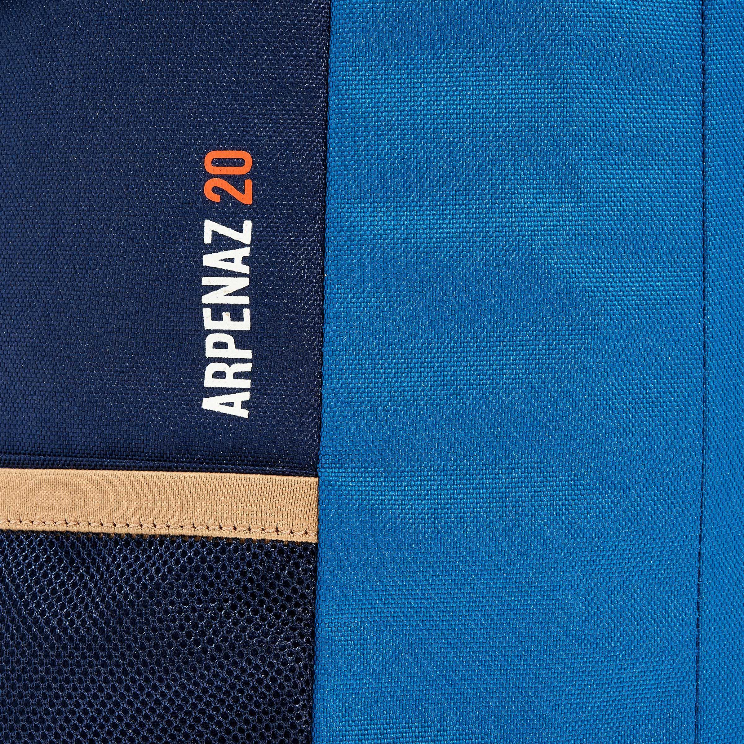 HIKING BACKPACK 20 Litre NH100 - BEIGE/BLUE