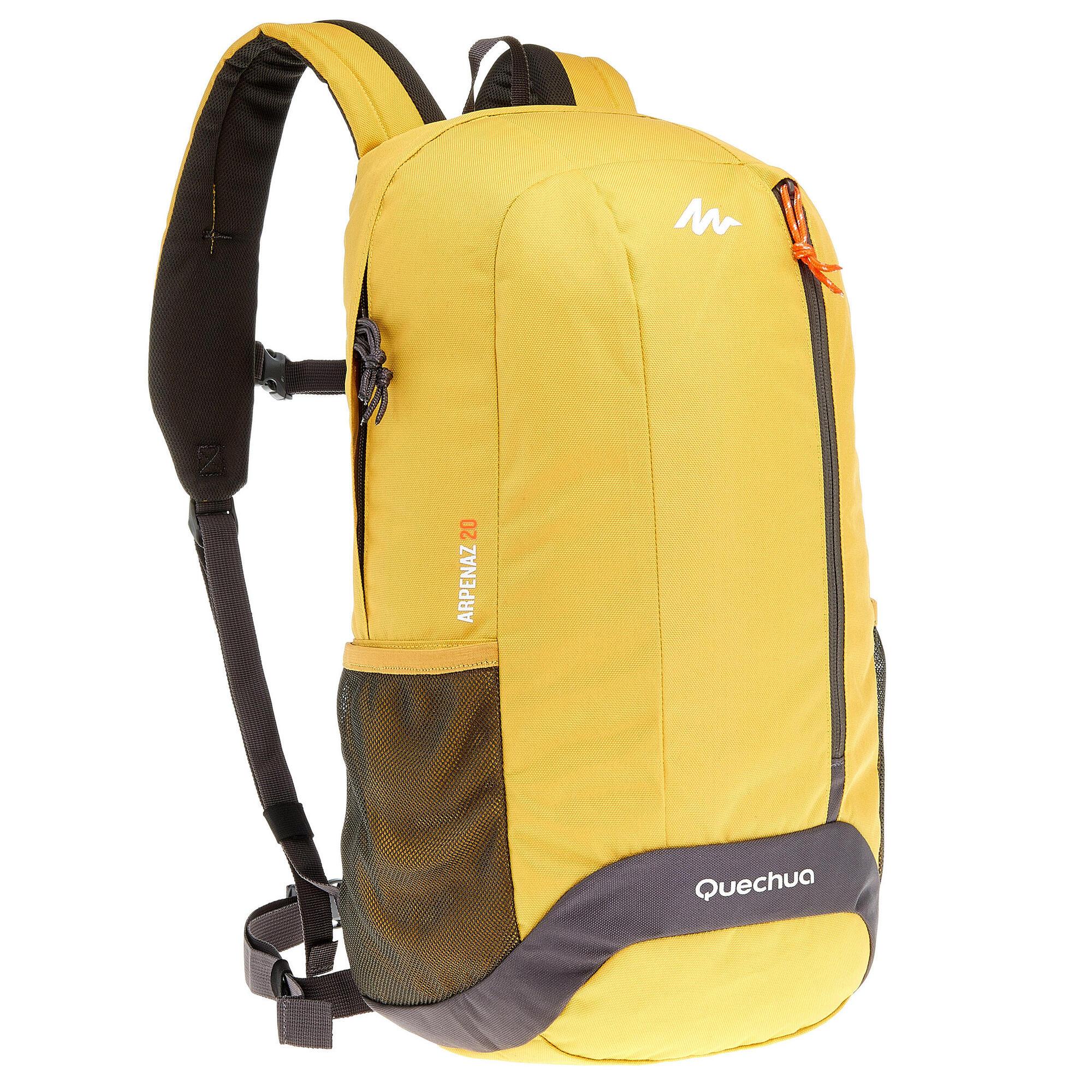 Nh100 20l Hiking Backpack Yellow Grey Quechua