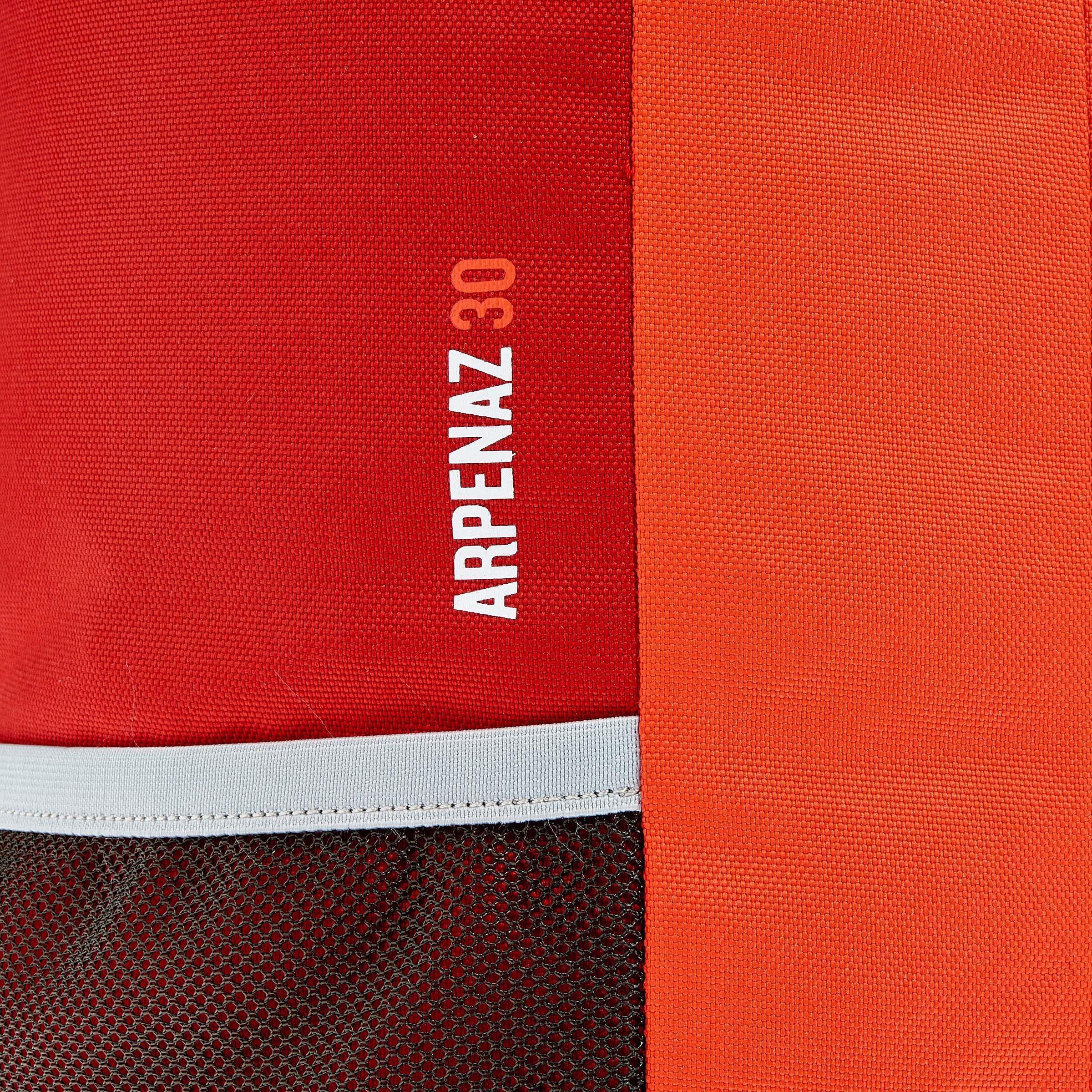 HIKING BACKPACK 30L NH100 - RED/GREY