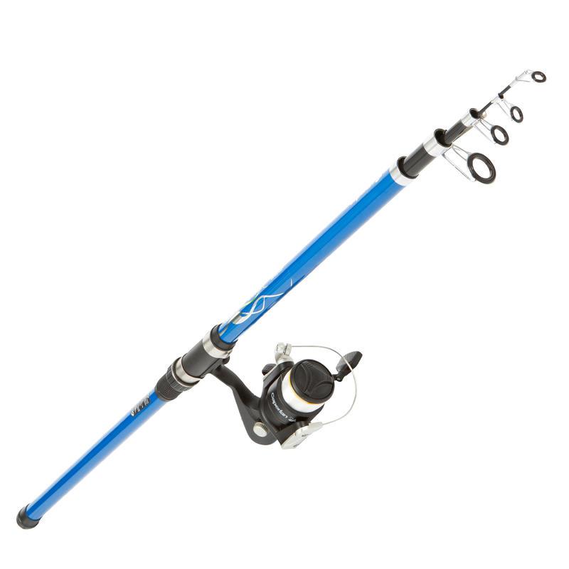 Conjunto de pesca de fondo desde la orilla SET SEACOST 350 ESSENTIAL