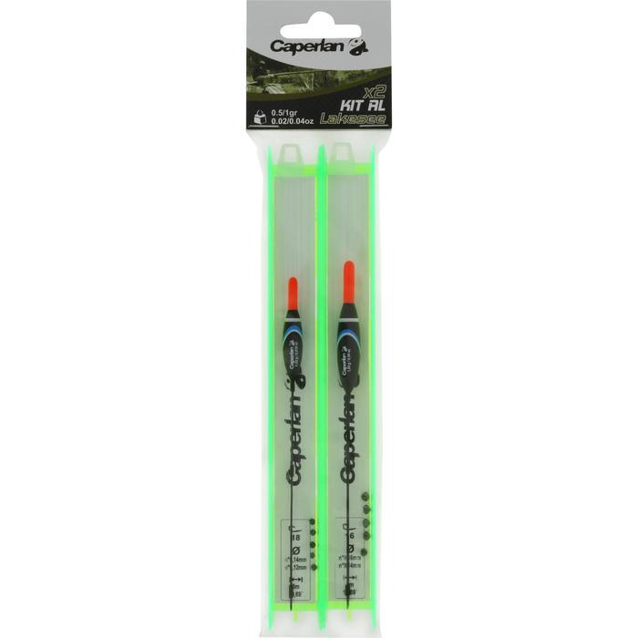 Lignes montées pêche au coup KIT RL LAKESEE H16/18 x2 0.5/1g