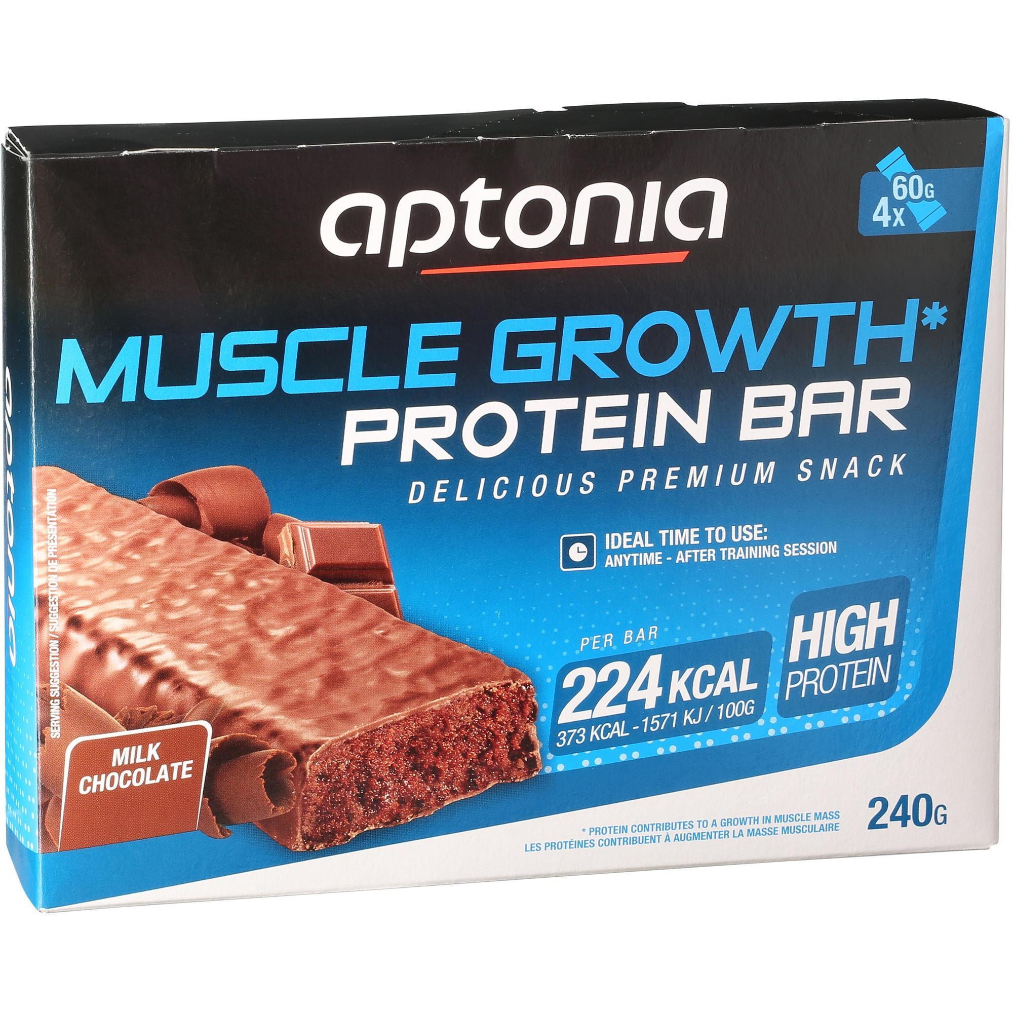 Barre de prot ines muscle growth chocolat 4x60g aptonia - Chaufferette main decathlon ...