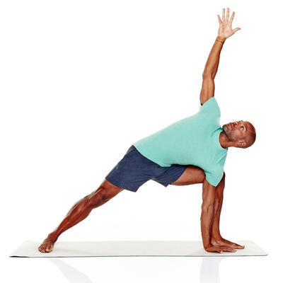 Tee-shirt Athletee coton biologique homme gym douce yoga vert bleu