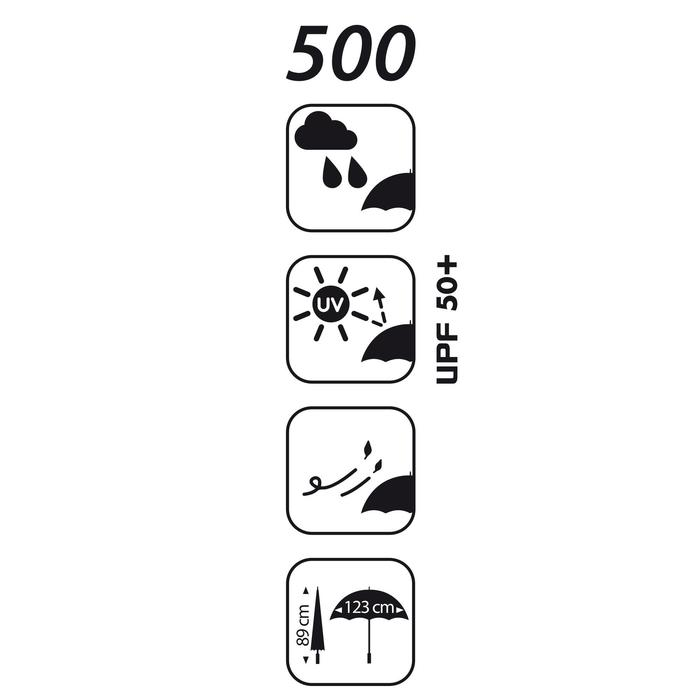 Parapluie golf 500 UV noir - 44325