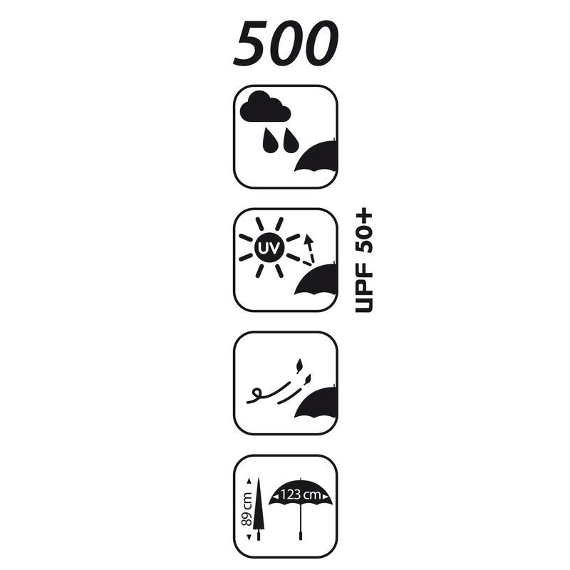 Umbrella 500 Golf UV polka dot