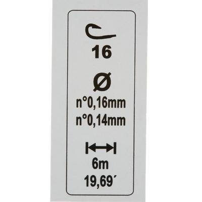 RL LAKESEE KIT H16/18 0.4/0.6G חוטים מורכבים לדיג דומם