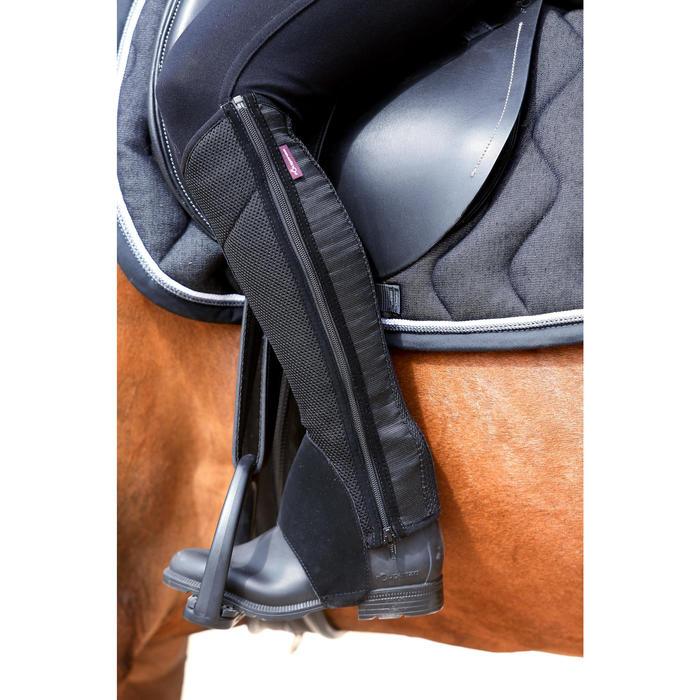 Boots équitation enfant et adulte SCHOOLING 100 noir - 443423