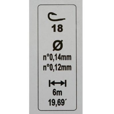 Набір волосіні Lakesee Kit з оснащенням для статичної ловлі, Г16/18, 0,4/0,6 г