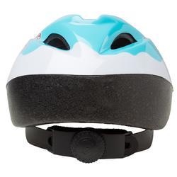 Fahrradhelm 300 Baby hellblau/weiß