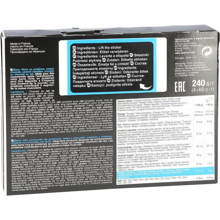 Barre de protéines MUSCLE GROWTH chocolat pralin 4X60g - 44494
