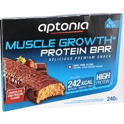 Barrita proteica MUSCLE GROWTH chocolate praliné 4X60 g