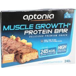 Barrita proteica MUSCLE GROWTH chocolate caramelo 4X60 g