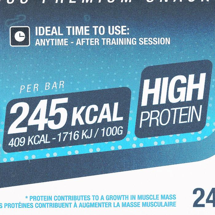 Barre de protéines MUSCLE GROWTH chocolat pralin 4X60g - 44500